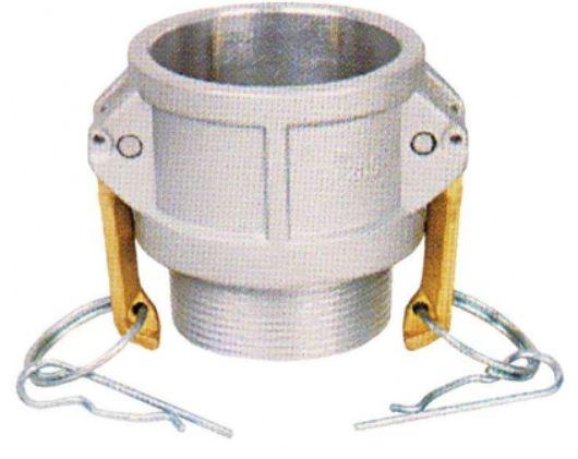 Acoplador Alumínio 2x2  fêmea/macho rosca externa