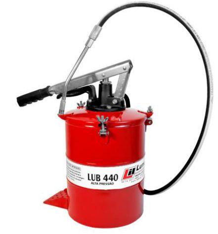 Bomba de Graxa Manual 8Kg com mola e disco compactador de graxa LUB440