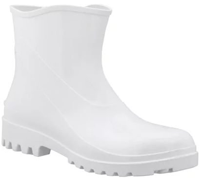 Bota PVC Cano Curto Branca Nº 43 CA-37455