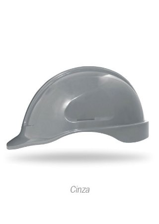 Capacete Turtle Aba Frontal Classe B com Suspensão Steel Lock Cinza CA-35983