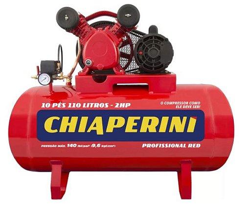 Compressor 10Pés 110Lts 140Lbs 2CV Monofásico 110/220V RED