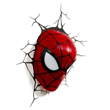 Luminária 3D Light FX Máscara Homem Aranha - Marvel