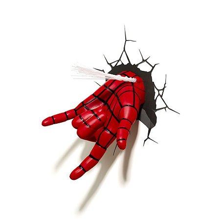 Luminária 3D Light FX Mão Homem Aranha - Marvel