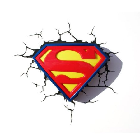 Luminária 3D Light FX Logo Superman DC Comics