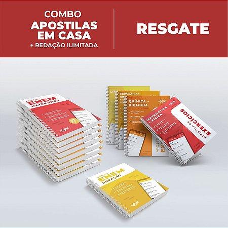 RESGATE APOSTILAS E LIVROS - Combo ENEM 2021 Apostilas em Casa + Redação Ilimitada