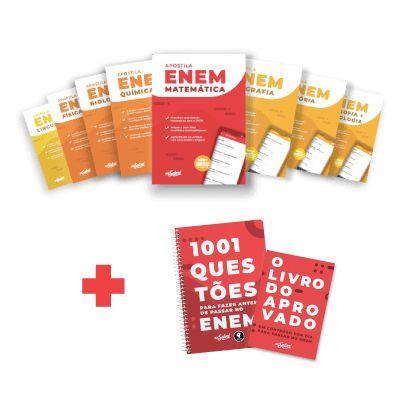 Kit Material Didático ENEM 2020: Apostilas ENEM por Matéria, Livro do Aprovado e 1001 Questões para fazer antes do ENEM
