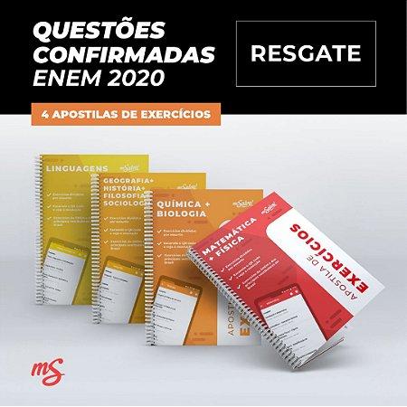 RESGATE APOSTILAS - Questões Confirmadas ENEM 2020 + 4 Apostilas de Exercícios e Simulados