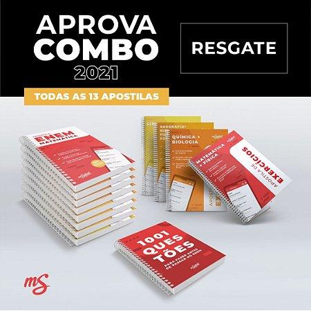 RESGATE APOSTILAS E LIVROS - Aprova Combo ENEM 2021 + 13 apostilas