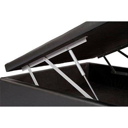 Cama Box Bau Solteiro Luxo 88 X 188 Corino