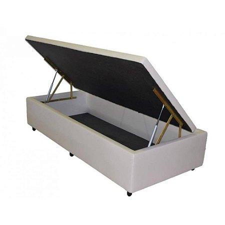 Box Baú Solteiro 88 X 188 X 44 Pistão A Gás -Corino