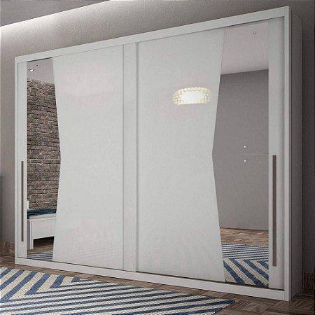 Guarda Roupa Geom Casal 2 Portas com Espelho