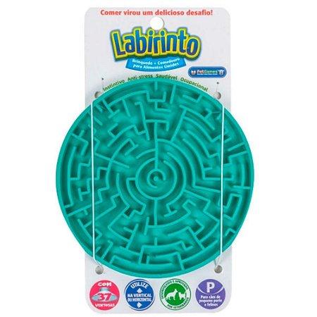 Tapete de Lamber p/ Cães e Gatos Pet Games Labirinto Verde P
