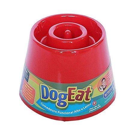 Comedouro Lento Elevado Pet Games Dog Eat Vermelho