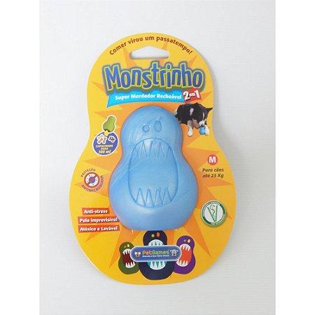Brinquedo Pet Games Monstrinho Azul M