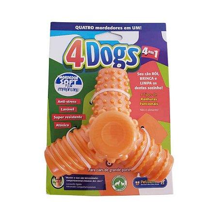 Mordedor Pet Games 4 Dogs Soft Laranja G