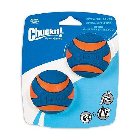 Bola Chuckit Ultra Squeaker M - Pack com 2