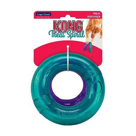 Brinquedo Recheável Kong Treat Spiral Ring p/ Cães - G