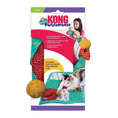 Tapete p/ Gatos Kong Cat Puzzlements Pockets c/ Catnip
