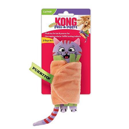 Brinquedo p/ Gatos Kong Cat Pull-A-Partz Purrito c/ Catnip