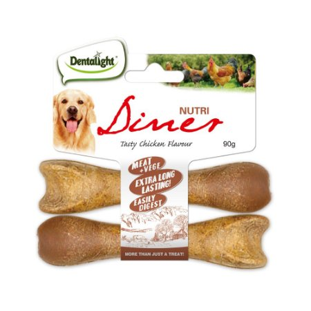 Mordedor Natural p/ Cães Dentalight Nutri Diner Frango 90g