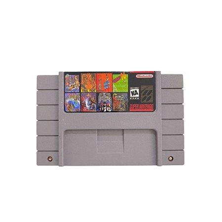 Fita Cartucho 8 em 1 Super Nintendo SNES
