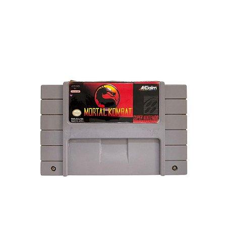 Fita Cartucho Mortal Kombat Super Nintendo SNES
