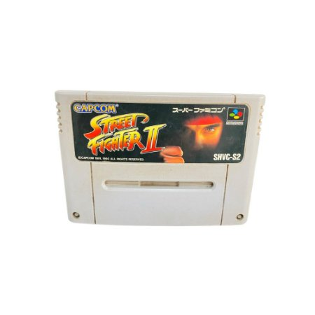 Fita Cartucho Street Fighter II Super Nintendo Super Famicom