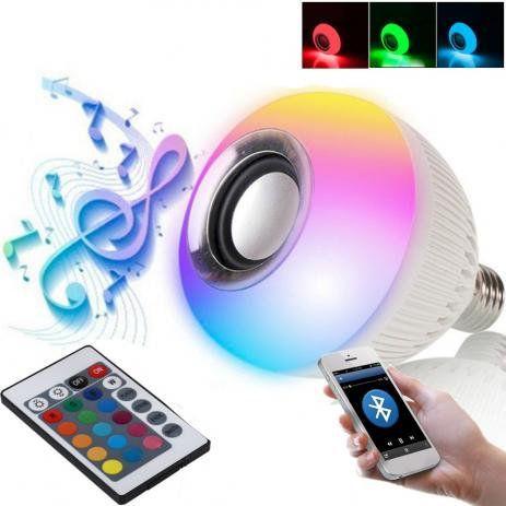 Lâmpada LED Bluetooth RGB - Caixa de Som Embutida
