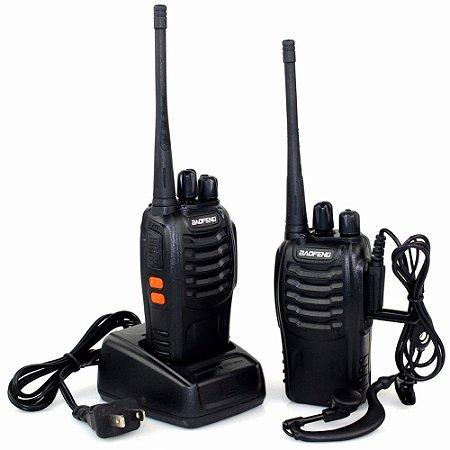Kit Rádio Comunicador Walk Talk Até 12Km BF-777S