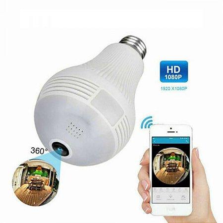 Lâmpada Câmera IP Espiã 360º Wi-Fi