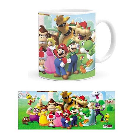 Caneca de Porcelana Turma do Super Mario