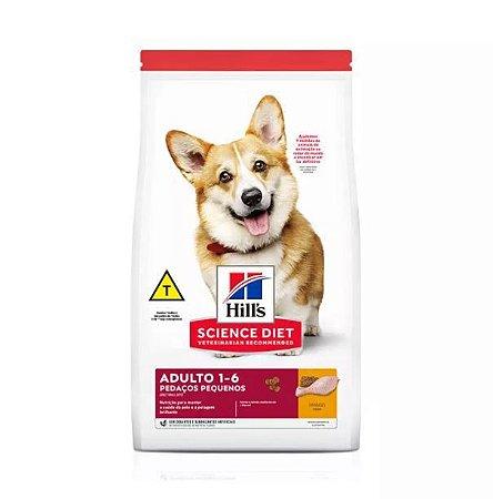 Ração Hills Science Diet Pedaços Pequenos para Cães Adultos de Pequeno Porte Sabor Frango 6kg