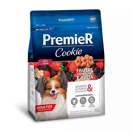 Biscoito Premier Cookie para Cães Adultos Sabor Frutas Vermelhas e Aveia 250g