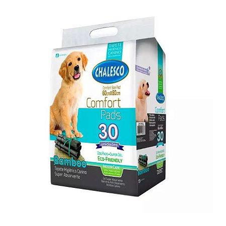 Tapete Higiênico para Cães Confort Bamboo Chalesco 30 pads