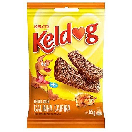 Bifinho KelDog Cães Adultos e Filhotes Galinha Caipira - 65g