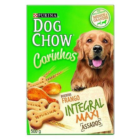 Biscoito Dog Chow Carinhos Integral para Cães Adultos de Raças Médias e Grandes Sabor Frango