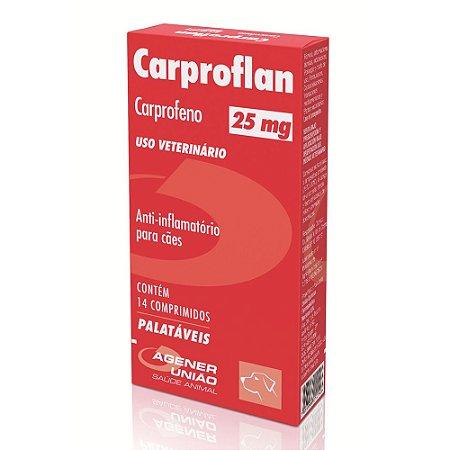 Carproflan Agener União 25mg 14 Comprimidos
