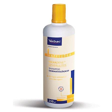 Hexadene Virbac Spherulites Shampoo Dermatológico para Cães e Gatos 250ml