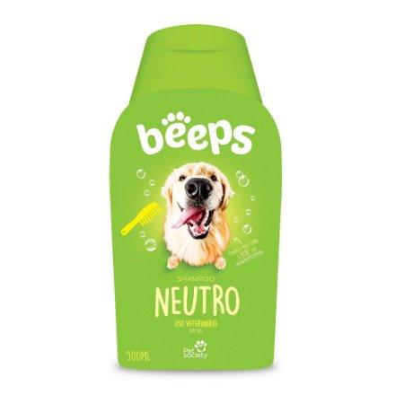 Shampoo Pet Society Cães e Gatos Linha Beeps Neutro