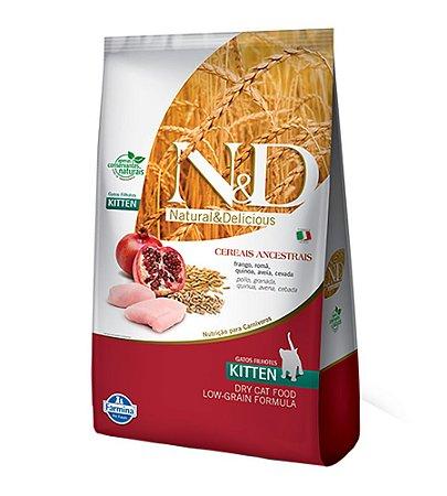 Ração Farmina N&D Low Grain para Gatos Filhotes Sabor Frango e Romã