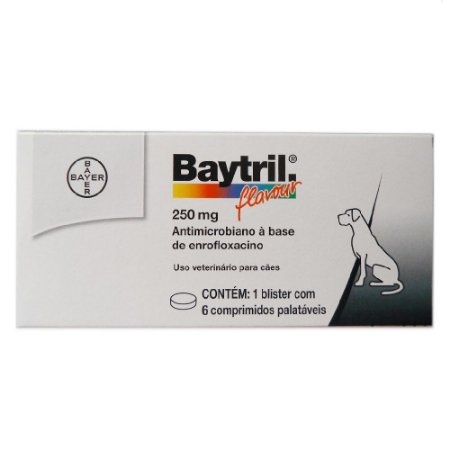 Baytril Flavour 250mg 6 Comprimidos