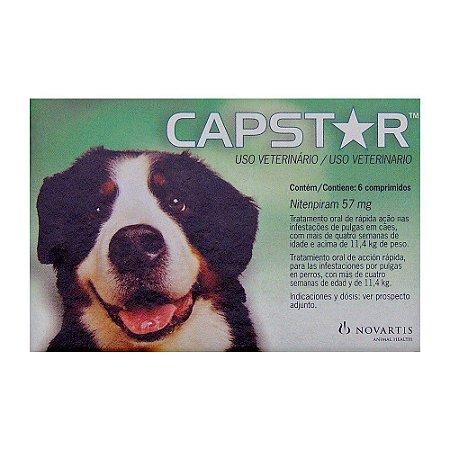 Antipulgas Novartis Capstar 57mg para Cães de 11 a 57kg