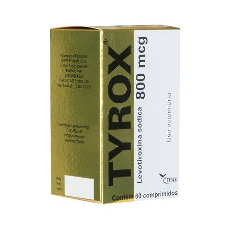 Repositor Hormonal Tyrox Cepav 800mcg - 60 comprimidos