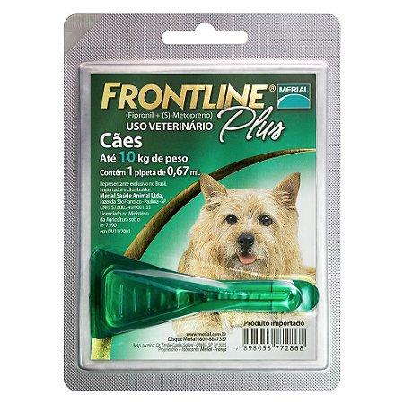 Antipulgas e Carrapatos Frontline Plus para Cães até 10kg