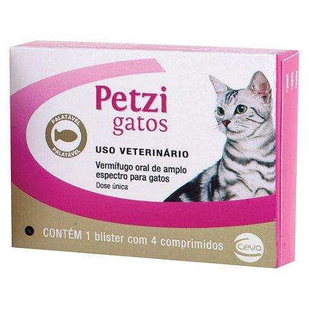 Petzi Gatos Ceva 4 Comprimidos