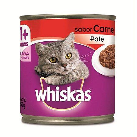 Ração Úmida Whiskas Lata para Gatos Adultos Sabor Carne - 290g