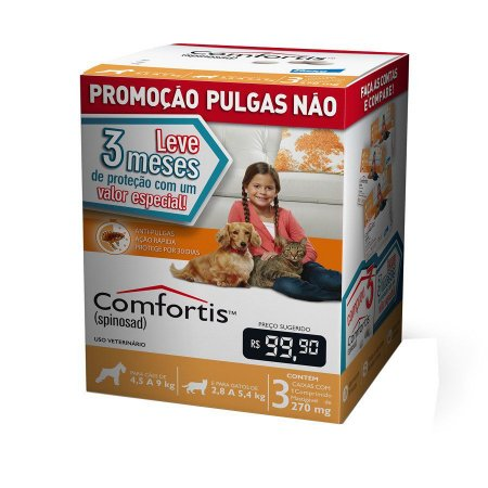 Combo Antipulgas Comfortis Elanco para Cães de 4,5 a 9Kg