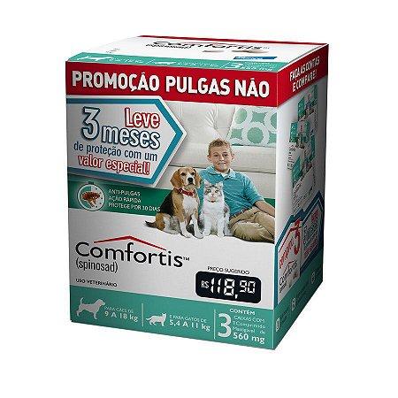 Combo Comfortis Antipulgas Elanco para Cães de 9 a 18kg