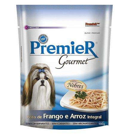 Ração Úmida Premier Gourmet Para Cães sabor Peito de Frango e Arroz integral 100g