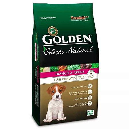 Ração Golden Seleção Natural Cães Filhotes Frango e Arroz Mini Bits